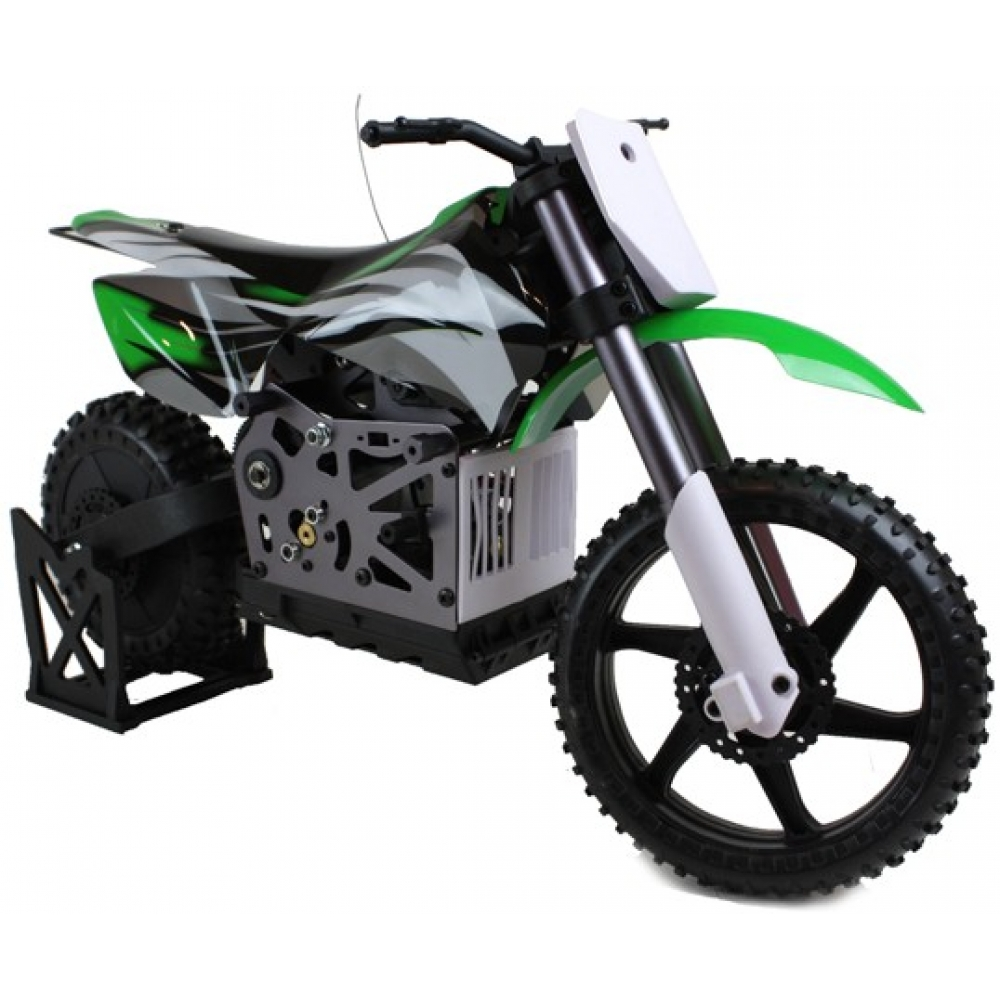 Himoto rc 1 4 scale motocross motorbike 2 4ghz green