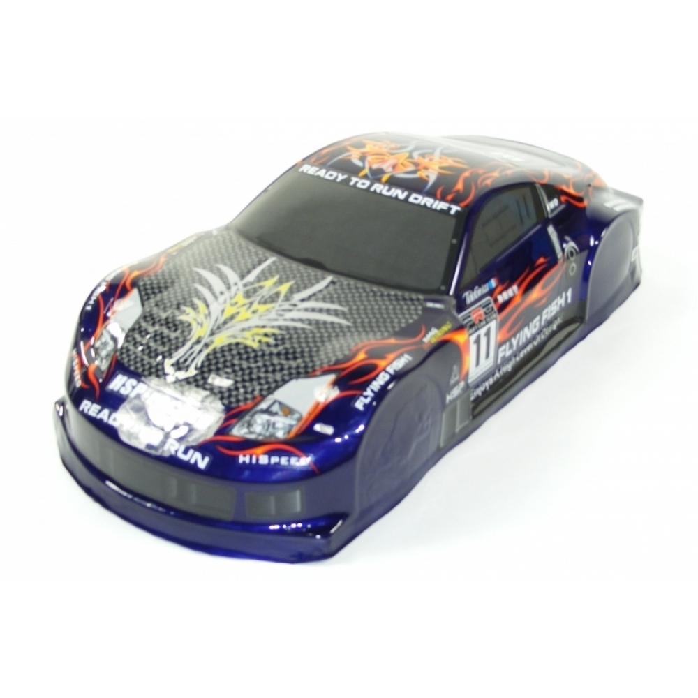1 10 Scale Drift Car Spare Body Nissan 350z Blue
