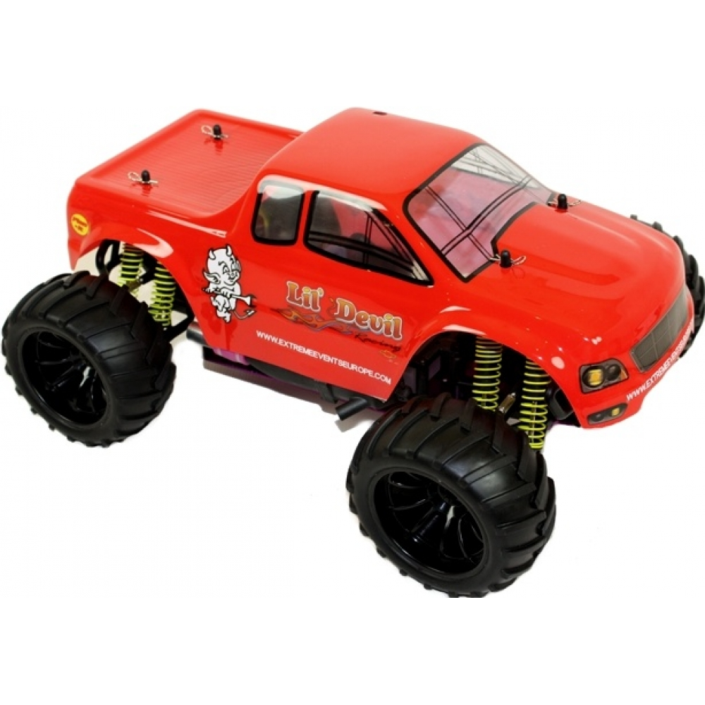 1 10 electric rc monster truck lil 39 devil for Rc electric motor oil