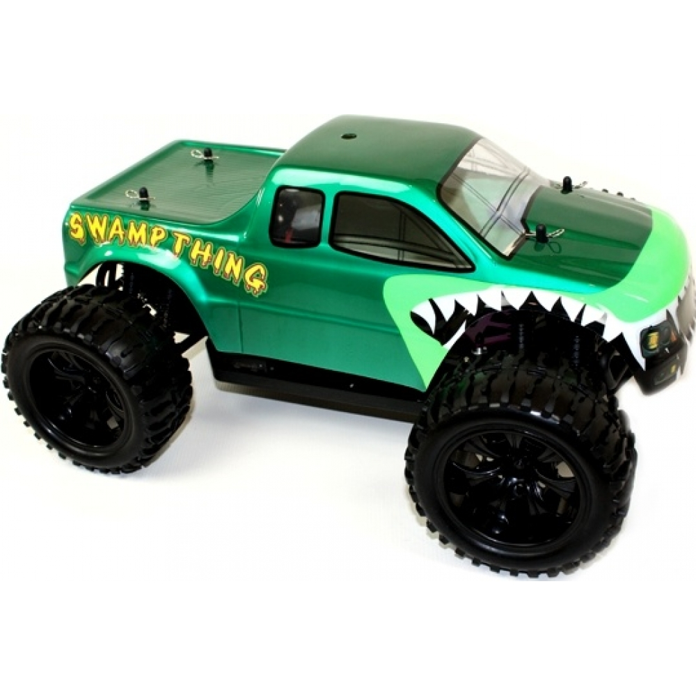 1 10 electric rc monster truck swamp thing for Rc electric motor oil