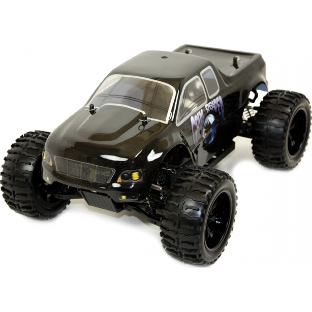 1 10 electric rc monster truck grim reaper for Rc electric motor oil