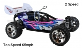 Himoto Mega-P RC Nitro Buggy 1/10 RTR 4WD (Purple 2 Speed 65mph)