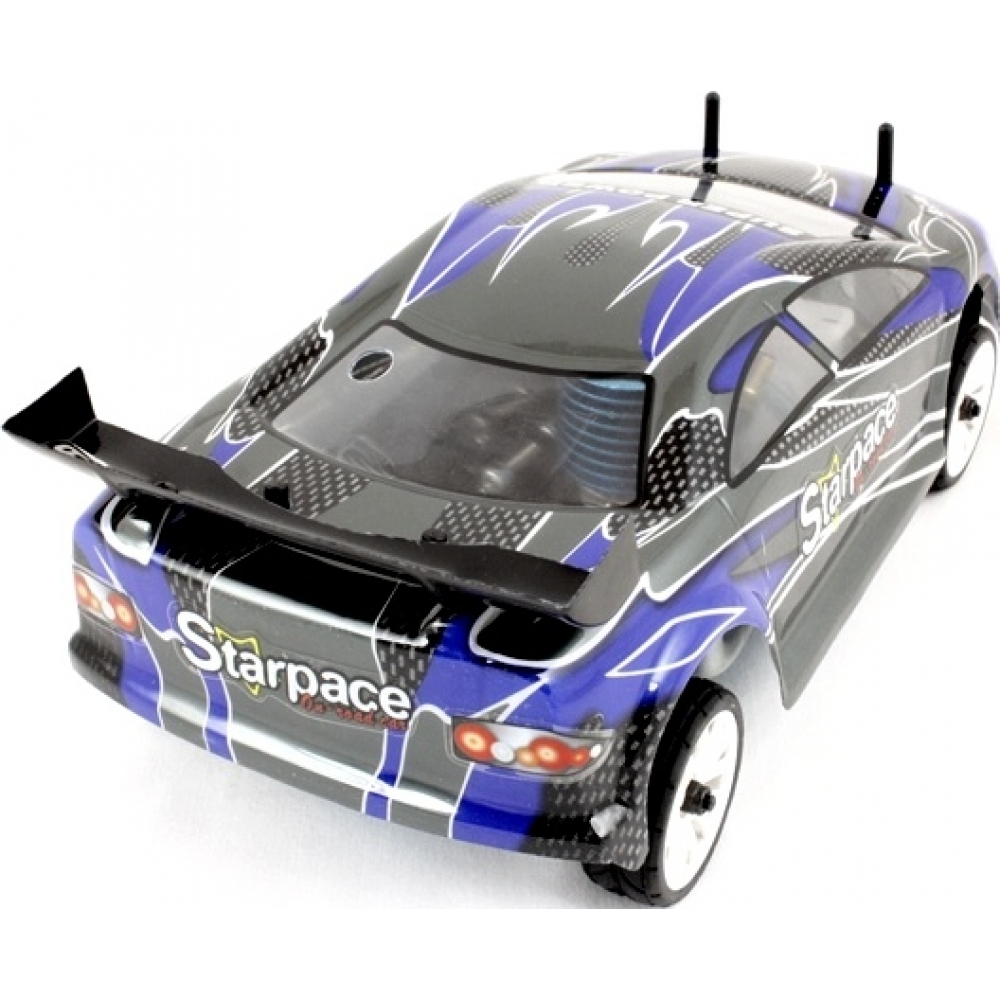 himoto 1 16 mini rc nitro car road warrior carbon blue. Black Bedroom Furniture Sets. Home Design Ideas