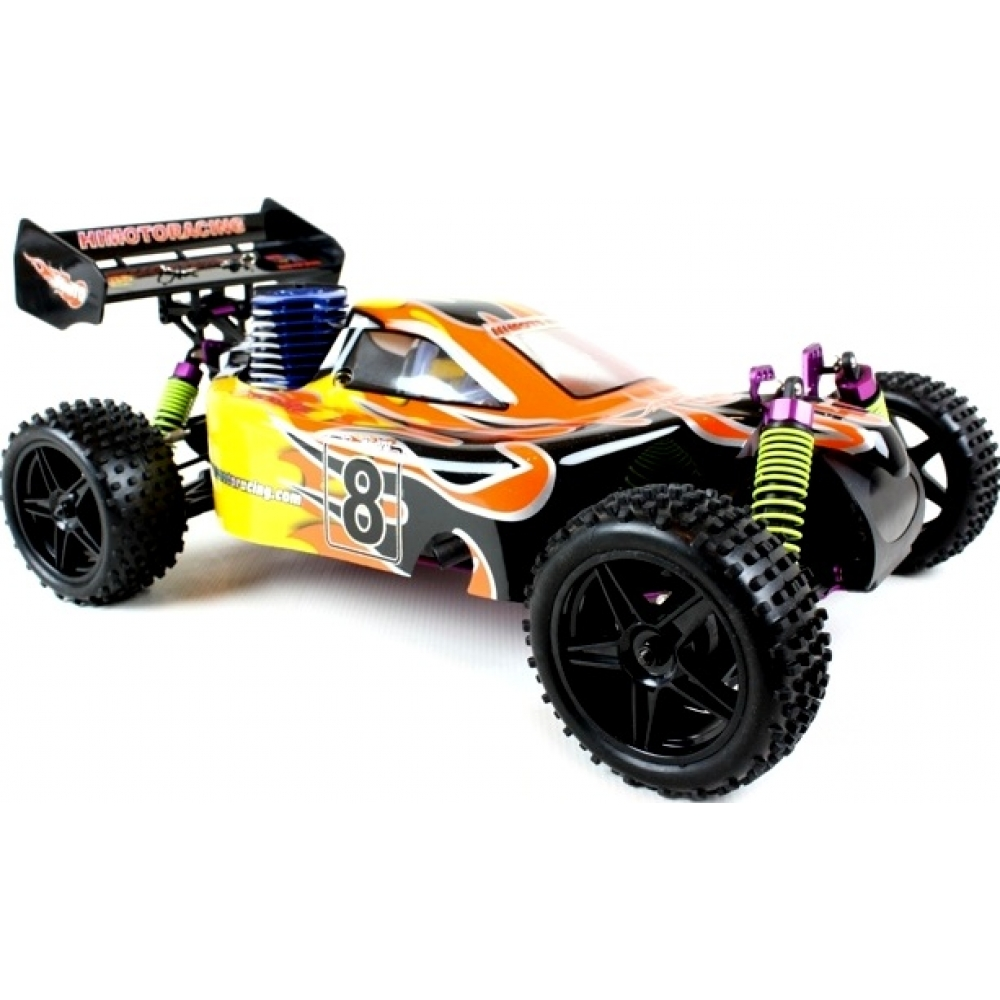 Himoto Syclone RC Nitro Buggy 1/10 RTR 4WD (Flame