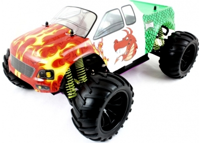1/10 Nitro RC Monster Truck (Red Dragon)