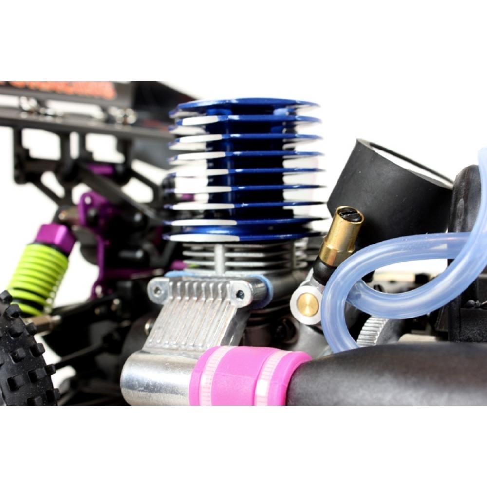 Nitro R C Cars Engine Tuning Secrets: Himoto Syclone RC Nitro Buggy 1/10 RTR 4WD (Flame