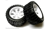 08010 Himoto 1/10 Monster Truck Tires/Wheels green