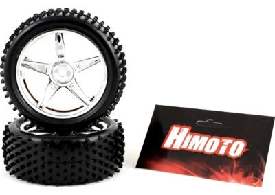Front Chrome 1/10 Buggy Wheels